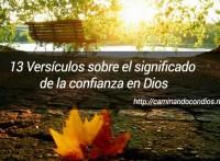 versiculos sobre la confianza en Dios
