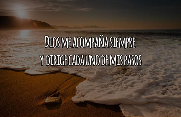 Dios me acompaña en cada momento