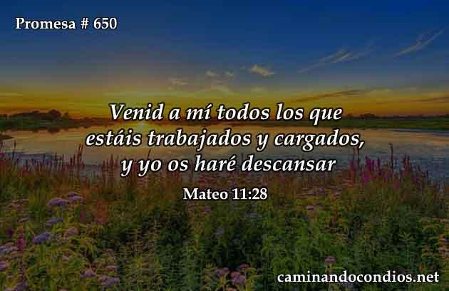 Versículos de descanso en Dios