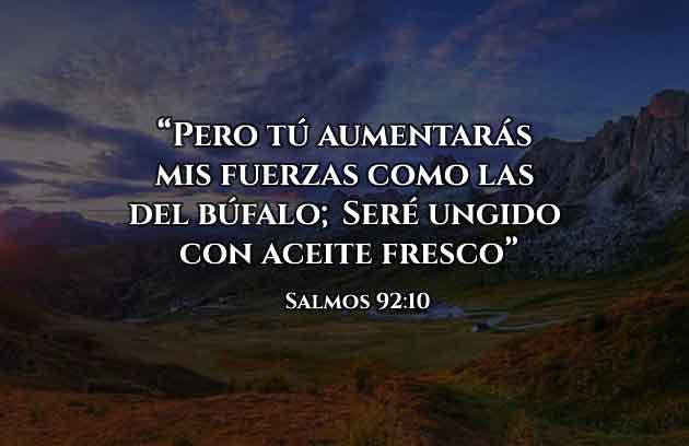 Versículo Diario Fuerzas como El Bufalo