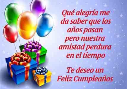 Mensaje de Feliz Cumpleaños Amigo