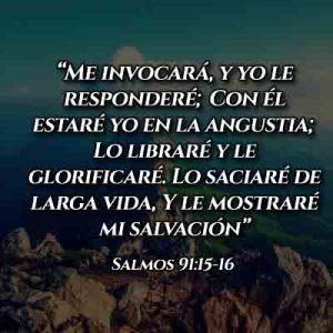 Versículo de Salmo 91:15-16