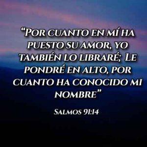 Versículo del Salmo 91:14