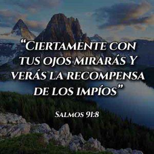 Versículo del Salmo 91:8
