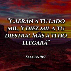 Versículo del salmo 91:7