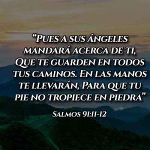 Versículos del Salmo 91:10-11