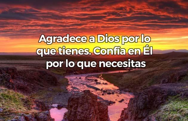 Agradece a Dios