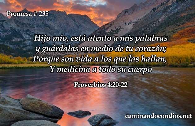 Proverbios 4:20-22